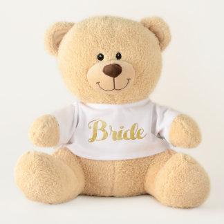 Gouden bruid knuffelbeer