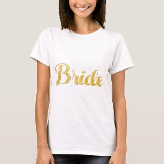 Gouden bruid t shirt