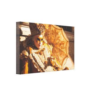 Gouden Carnaval masker Stretched Canvas Print