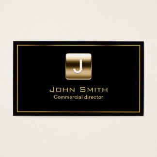 Gouden Commerciële Directeur Dark Visitekaartje Visitekaartjes