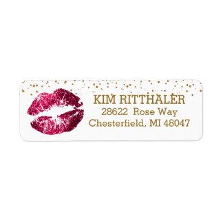 Gouden Confettien & het Roze Adres van Lippen Etiket