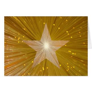 Gouden de groetenkaart van de Ster van de Briefkaarten 0
