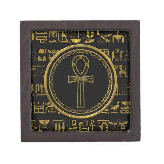 Gouden Egyptisch Dwarssymbool Ankh Premium Bewaar Doosjes