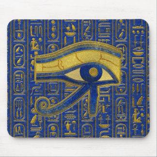 Gouden Egyptisch Oog van Lapis lazuli Horus - Muismatten