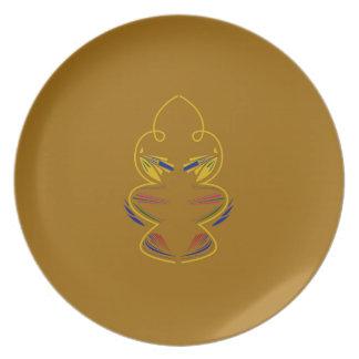Gouden elementenmandala melamine+bord