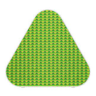 gouden en groene elegante chevron bluetooth luidspreker