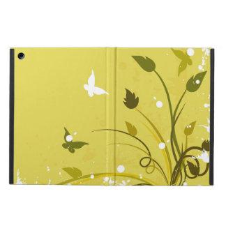 Gouden en Witte BloemenVlinder Grunge iPad Air Hoesje