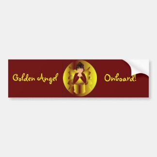 """""""Gouden Engel aan boord van"""" sticker-Klantgerichte Bumperstickers"""