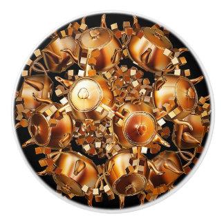 Gouden Fractal van Theepotten Ceramische Knop