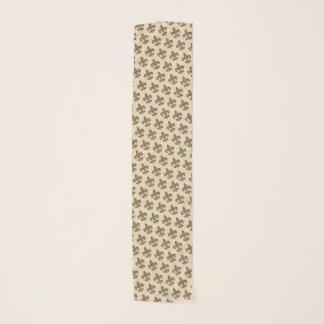 Gouden Franse Fleur DE Lis Pattern & Taupe Sjaal
