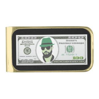 gouden geldklem (eindig) vergulde geldclip