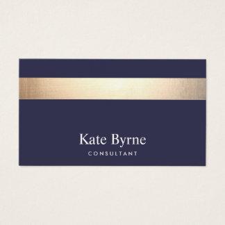 Gouden Gestreepte Moderne Modieuze Marineblauw Visitekaartjes