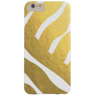 Gouden Gestreepte Telefoon 6 van het Patroon Barely There iPhone 6 Plus Hoesje