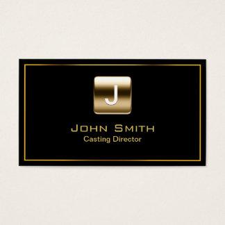 Gouden Gietende Directeur Dark Visitekaartje van Visitekaartjes