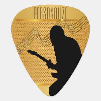 Gouden Gitarist | Diy- Tekst Gitaar Plectrum