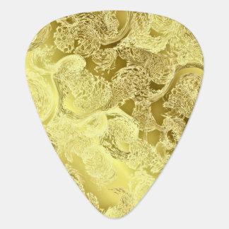 Gouden glanzende elegant fractal van patroon plectrum