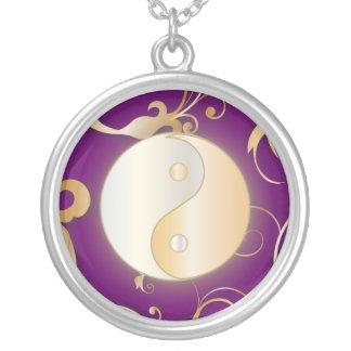 Gouden Gloed Yin & Yang Zilver Vergulden Ketting