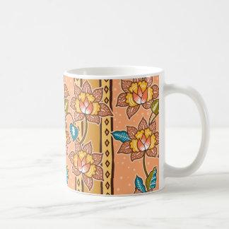Gouden Hand getrokken decoratief Koffiemok