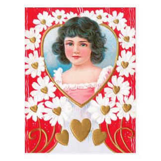 Gouden Harten en Margrieten Briefkaart