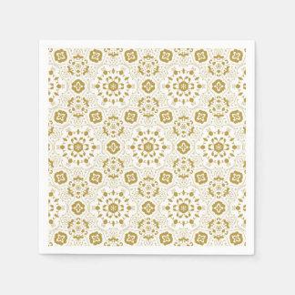 Gouden het document van het kantpatroon coctail papieren servetten