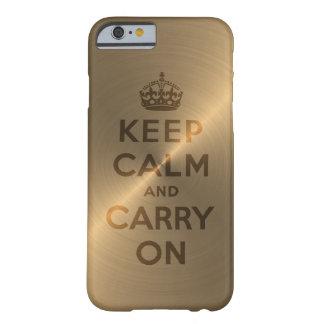 Gouden houd Rust en draag Barely There iPhone 6 Hoesje
