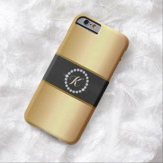 Gouden iPhone 6 van het Monogram van de Ring van Barely There iPhone 6 Hoesje