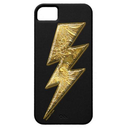 Gouden iPhone van de Bout van de Bliksem 5 Hoesje iPhone 5 Hoesje