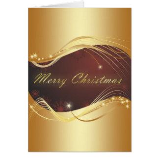 Gouden Kerstmis beweging veroorzakend met rode Briefkaarten 0