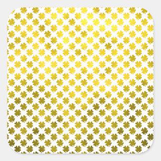 Gouden Klaver Vier Ierse Metaal van de Klaver van Vierkante Sticker