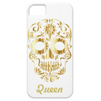 Gouden Koningin Sugar Skull Barely There iPhone 5 Hoesje