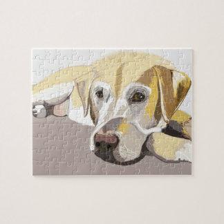 Gouden Labrador Puzzel
