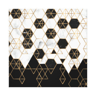 gouden lijnenart. canvas afdrukken