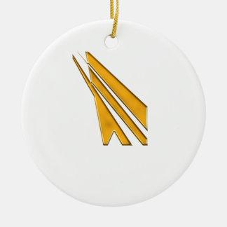gouden logo rond keramisch ornament