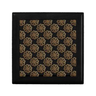 Gouden Mandalas op Zwarte Decoratiedoosje