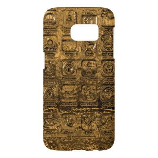 Gouden mobiele telefoonpictogrammen samsung galaxy s7 hoesje