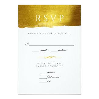 Gouden Monogram Glam en de Elegante kaart van het