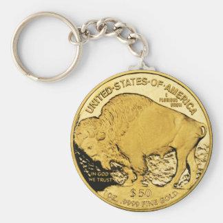 Gouden Muntstuk Keychain Sleutelhanger