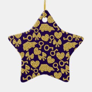 gouden naadloos patroon 3 .1 keramisch ster ornament