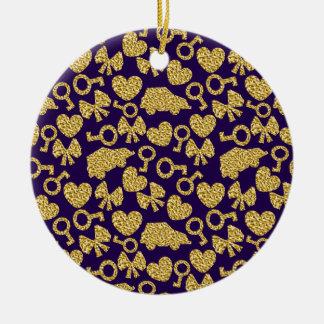 gouden naadloos patroon 3 .1 rond keramisch ornament