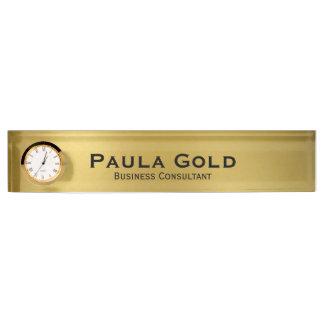 Gouden Naambord met Klok