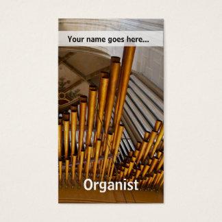Gouden orgaanpijpen visitekaartjes