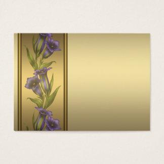 Gouden Paarse Violette Visitekaartjes