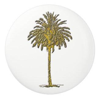 Gouden Palm en Uw Kleur Keramische Knop
