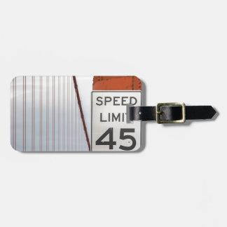 gouden poortmaximum snelheid kofferlabels