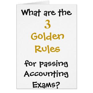 Gouden Regels om de examens van de Boekhouding Briefkaarten 0