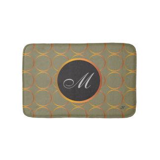 Gouden ringenmonogram badmat