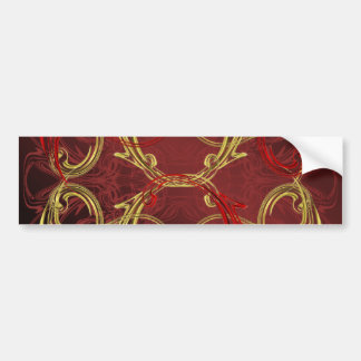 gouden, rode en zwarte glanzende gekleurd bumpersticker