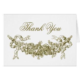 Gouden Romantische Swag dankt u nota neemt van Kaart