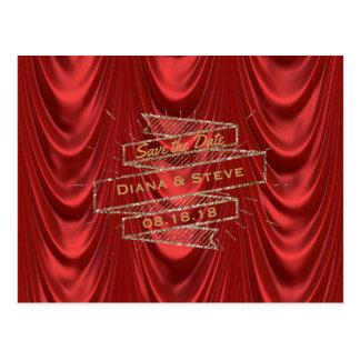 Gouden Rood Huwelijk | van Glam Elegant sparen de Briefkaart