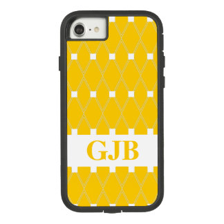 Gouden Rooster Argyle met monogram Case-Mate Tough Extreme iPhone 8/7 Hoesje